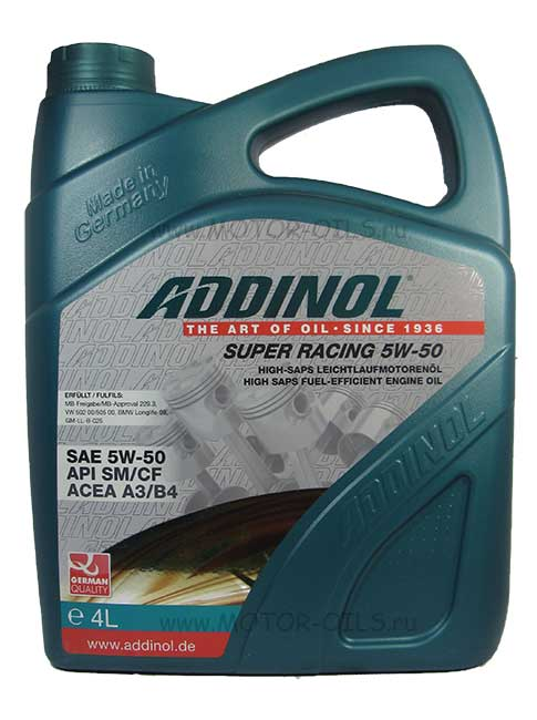 ADDINOL Super Racing 5w-50 (4_литра)