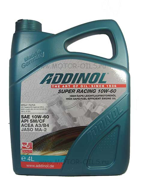 ADDINOL Super Racing 10W-60 (4_литра)