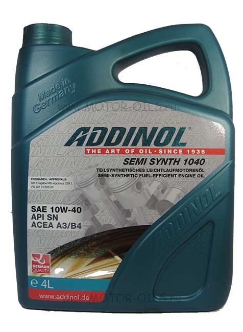 ADDINOL SEMI SYNTH 1040 SAE 10W-40 (4_литра)