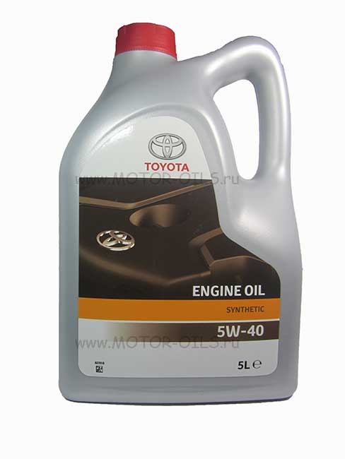 TOYOTA Engine Oil Synthetic 5W-40 (5_литров/OEM:08880-80375)