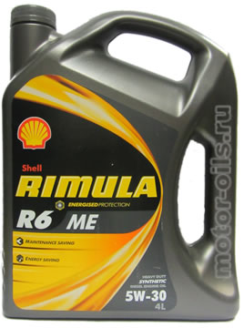 Масло Shell R6 Me 5W30