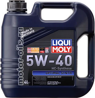 Liqui Moly Optimal Synth 5W-40 (4_литра/Арт.3926)