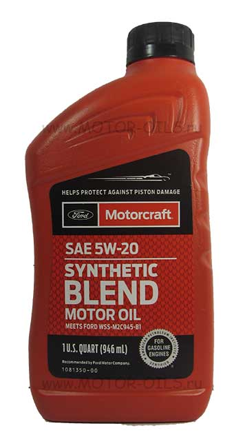 Ford motorcraft sae 5w 20 synthetic blend for Shell synthetic blend motor oil