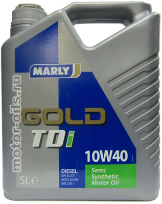 MARLY Gold TDI 10w-40 (5_литров)