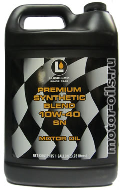 Lubri loy premium synthetic blend 10w 40 sn for Shell synthetic blend motor oil