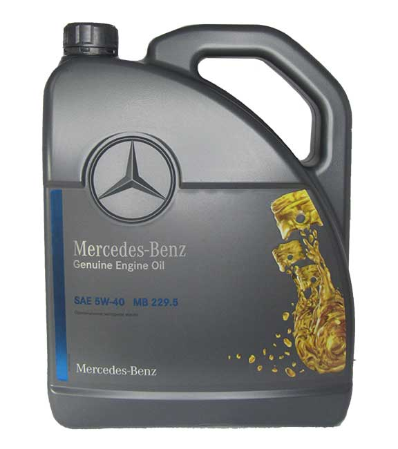 mercedes benz genuine engine oil sae 5w 40 mb 229 5 5. Black Bedroom Furniture Sets. Home Design Ideas