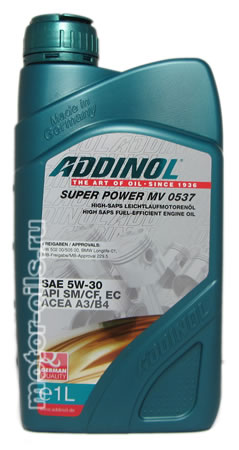ADDINOL Super Power MV 0537 SAE 5W-30 (1_литр)