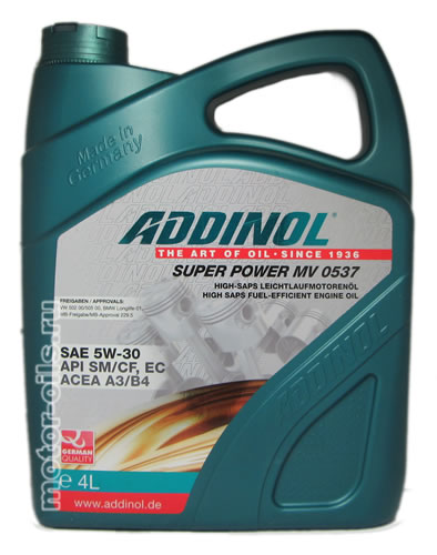 ADDINOL Super Power MV 0537 SAE 5W-30 (4_литра)
