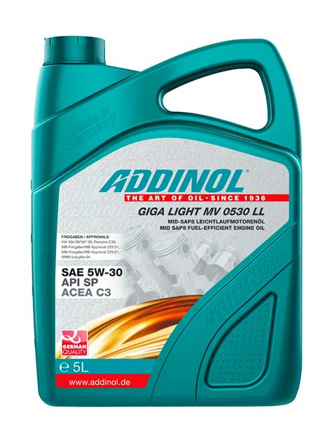 ADDINOL GIGA LIGHT MV 0530 LL SAE 5W-30 (5_литров)