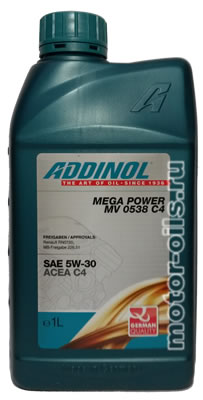 ADDINOL MEGA POWER MV 0538 C4 (1_литр)