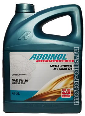 ADDINOL MEGA POWER MV 0538 C4 (5_литров)
