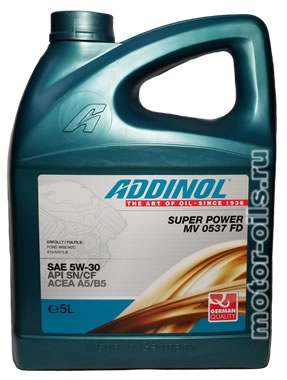 ADDINOL SUPER POWER MV 0537 FD (5_литров)