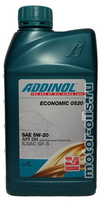 ADDINOL ECONOMIC 0520 SAE 5W-20 (1_литр)