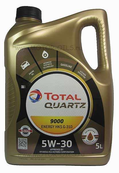 Total Quartz 9000 ENERGY HKS G-310 5W-30 (5_литров)