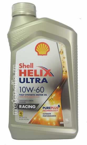 Shell Helix Ultra 10W-60 Racing (1_литр)