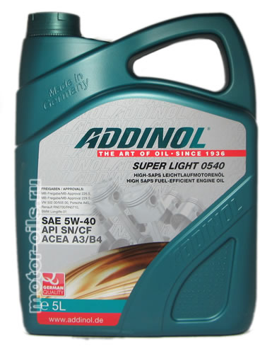 ADDINOL Super Light 0540 5W-40 (5_литров)