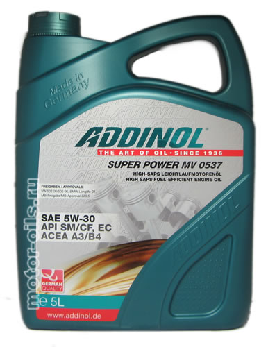 ADDINOL Super Power MV 0537 SAE 5W-30 (5_литров)