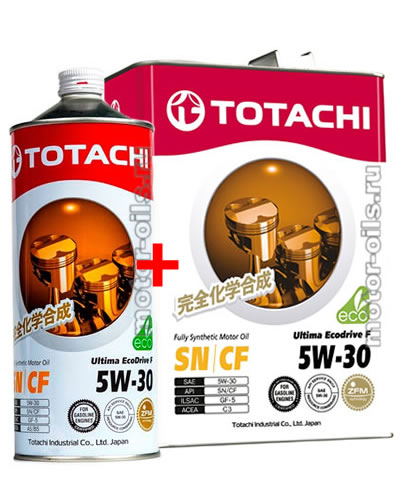TOTACHI Ultima EcoDrive F 5W-30 (4_литра+1_литр)