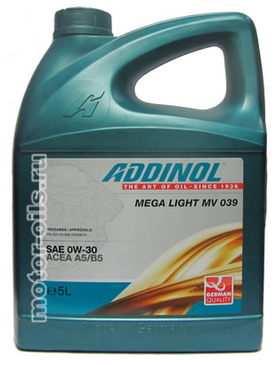 ADDINOL Mega Light MV 039 (5_литров)