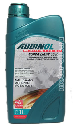 ADDINOL Super Light 0540 (1_литр)