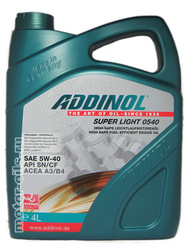 ADDINOL Super Light 0540 5W-40 (4_литра)